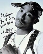 TUPAC SHAKUR REPRINT 8X10 AUTOGRAPHED SIGNED PHOTO PICTURE COLLECTIBLE 2PAC RP