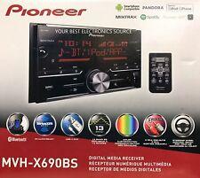 NEW Pioneer MVH-X690BS 2-Din Bluetooth In-Dash Digital Media Stereo