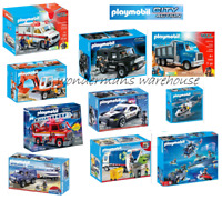 Playmobil City Action Set - Police/Ambulance/Speedboat/Truck/Jeep/Car - New