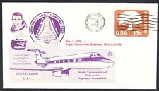 GULFSTREAM STA SPACE SHUTTLE TRAINING AIRCRAFT FLIGHT 11-4-1976 Space Cover