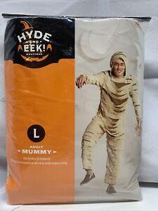 Hyde & Eek Adult Mummy Monster Jumpsuit Halloween Costume Large 42-44 Chest