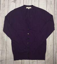 Women's Ann Taylor Loft Wool Blend Purple Cardigan Sweater-Size M