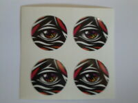 """16  ALL SEEING EYE  1"""" BOWLS STICKERS LAWN BOWLS FLAT GREEN CROWN GREEN BOWLS"""