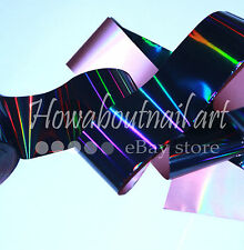 """Holographic black"" transfer nail art foil - 1 meter"