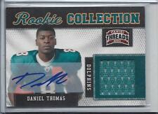1/1 DANIEL THOMAS 2011 THREADS ROOKIE COLLECTION DOLPHINS JERSEY AUTO RC #D 8/25