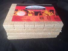 Grillanzünder Holz & Pflanzenöl Anzündwürfel Kaminanzünder Grill 96 Würfel