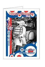 UK MODS FEATURING A VESPA  SCOOTER  BIRTHDAY CARD