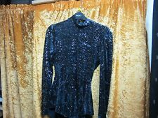 black galexy glitter velvet ice skating dress size 0 age 4  keyhole long sleeve