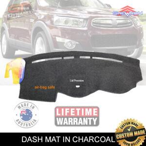 DASH MAT HOLDEN CAPTIVA LX CG 06/2006-11/2013 passenger airbag Charcoal DM1029