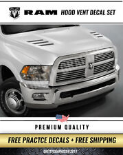 DODGE RAM 2010-2017 2500 & 3500 HD HOOD VENT DECAL INSERT TRUCK STICKERS