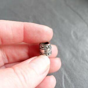 Stainless Steel Dreadlock Bead dread / hair / braid / beard bead 6mm hole dia.
