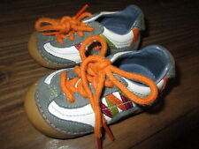 STRIDE RITE ~SIGNET~ SNEAKERS ORANGE BLUE LEATHER LACE Shoes + Toddler BOY SZ 4