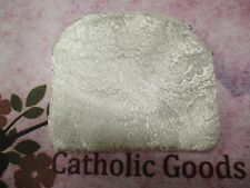 White Brocade Zippered Rosary or Chaplet Case (lined)