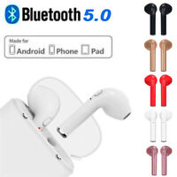 Bluetooth 5.0 Wireless Headset i7s TWS Earbuds Twins In Ear Earphone+Charger Box
