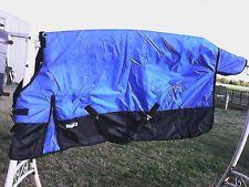 """72"""" blue 420 D Tough 1 medium lightweight waterproof horse turnout blanket"""