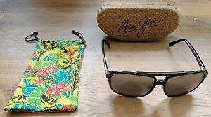 Maui Jim Silversword STG-8G Polarized Sunglasses  Barely used  Cases