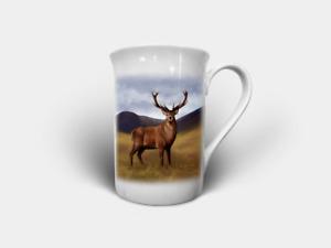 Highland Wildlife Bone China Mugs/Cups (Puffin, Stag, Deer, Highland Cow etc..)
