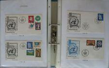 s1729) Vereinte Nationen Geneve UNO Genf Ersttagsbriefe 370 FDC 1969 - 2014