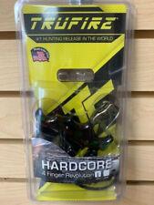 New TruFire Hardcore 4 Finger Revolution Bow Archery Release Aid Camo HDRC