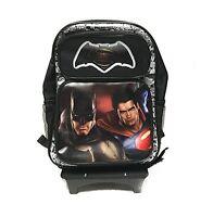 "Batman Vs Superman School 16"" Backpack Book Bag with Detachable Rolling/Trolley"