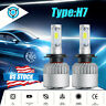 H7 LED Headlight Bulbs Conversion Kit Hi/Lo 2000W 300000LM 6000K Super Bright