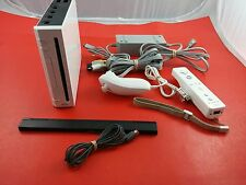 White Nintendo Wii System [w/1 Official Controller & All Cables] Tested Works