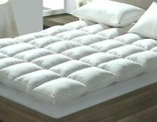 Duck Feather & Down 4--5CM Thick Mattress Topper OR Pillows (Cot-SS-S-SD-D-K-SK)