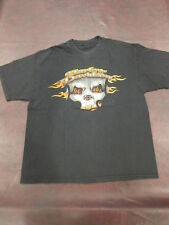 Vtg Harley Davidson T Shirt Motorcycle Stone Mountain Georgia Flaming Skull Fire