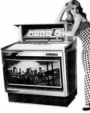"AMI Rowe The Music Merchant Jukebox  8"" - 10"" B&W Photo Reprint"