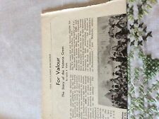 m11b ephemera 1950s article for valour the victoria cross