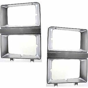 New Set of 2 Head light Headlight Doors Headlamp Bezels Left & Right Side Pair