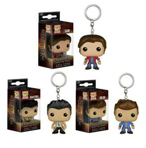 POP Supernatural JOIN THE HUNT Sam Dean Castiel KeyChain Charm Bag Pendant