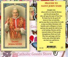 St John XXIII with Prayer to St John XXIII - Laminated  Holy Card