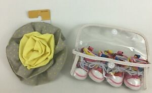 Boots and Barkley 2pc Lot of Small Dog Shoes and Flower Collar Accessory Pets
