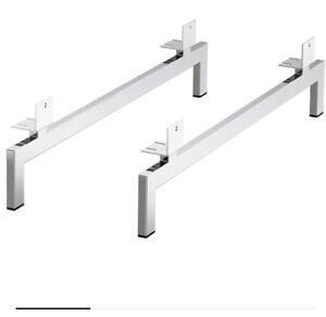 ❤️IKEA NOCKEBY Silver Chrome Set Of 2 Sofa Legs Table Footstool Ola Wihlborg