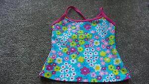 John Lewis Girls Flower Swim Tankini Green Top Age 3 4 5 6 7 Brand New RRP £9.00