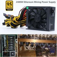 2400W Modular Power Supply For 6 / 8 GPU Eth Rig Ethereum Coin Mining 95 Gold