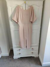 ASOS DESIGN UK14  Tall Wiggle Midi Dress Blush Pink  Elegant Wedding Party
