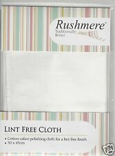 Rushmere Traditional Lint Free Bleached Calico Polishing Cloth Duster 45 x 30 cm