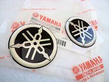 GENUINE Yamaha Tank Badge 45MM Silver & Black x 2 **UK STOCK**