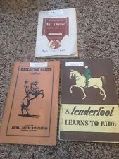 New listing Old Galloping Games, Tenderfoot, Treatise Horse Sports and Contests Manual Books