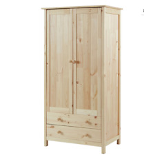 New Scandinavia 2 Door 2 Drawer Drawers Wardrobe Bedroom Furniture Wooden Pine