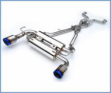 INVIDIA GEMINI ROLLED TIP BURNT TIP CATBACK EXHAUST FOR NISSAN 350Z HS02N3ZGID
