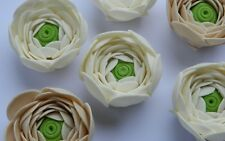6 edible RANUNCULUS flower cake decorations TOPPER wedding BIRTHDAY christening
