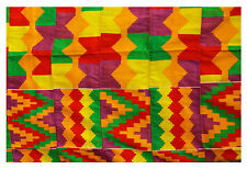 Kente Handwoven Cloth Ashanti Ghana African Clothing African Art Textile 6 yards