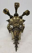 Antique Cast Gilt Bronze Wall Sconce Neo Classical Light Lamp Ormolu