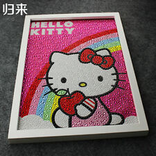Hello Kitty Rainbow Painting Diy 5D Diamond Full Embroidery Rhinestone Girl Gift