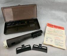ancienne brosse soufflante MOULINEX vintage coffret peigne brosse sanglier 1974