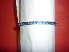 BRACCIALE TENNIS BRONZO argentato BLU made in italy bracciali colorati gioielli