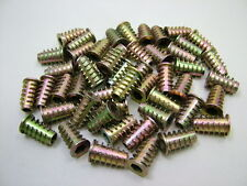 Insert nut threaded insert anchor for wood & chipboard M6 x 20mm, pack of 50